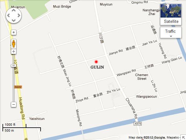 Gulin maps in google
